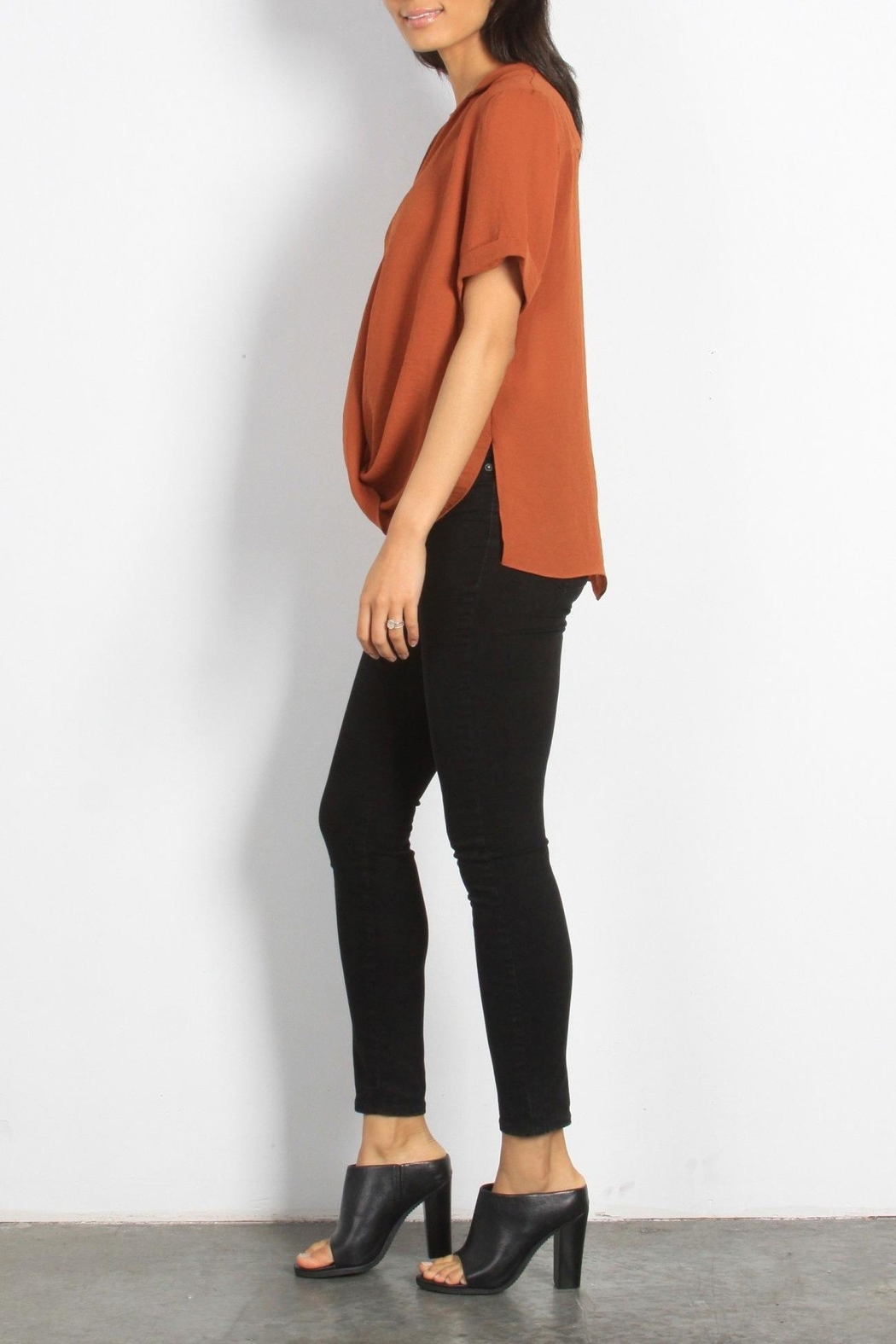 Mod Ref Surplice-Front Dolman-Sleeve Top - Front Full Image