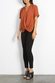 Mod Ref Surplice-Front Dolman-Sleeve Top - Front cropped