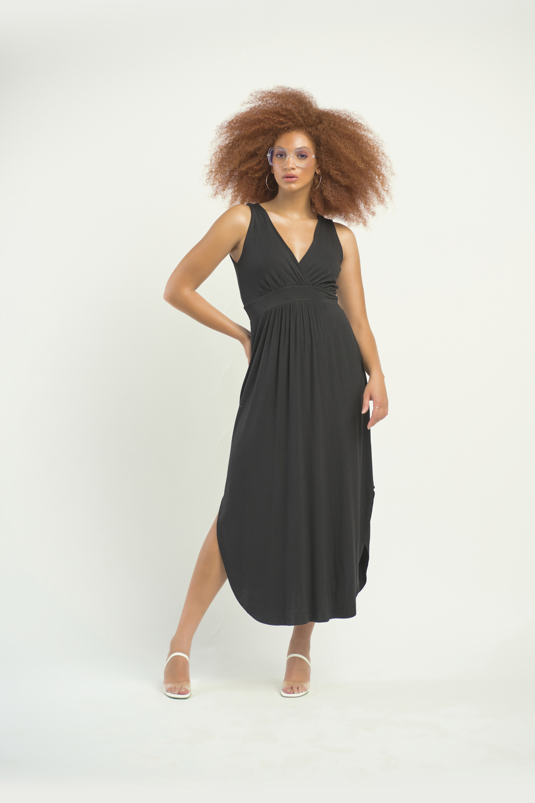 Dex Surplice Hi Lo Knit Dress - Main Image