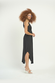 Dex Surplice Hi Lo Knit Dress - Front full body