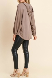 Doe & Rae Surplice Hooded Pullover - Front full body