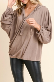 Doe & Rae Surplice Hooded Pullover - Side cropped