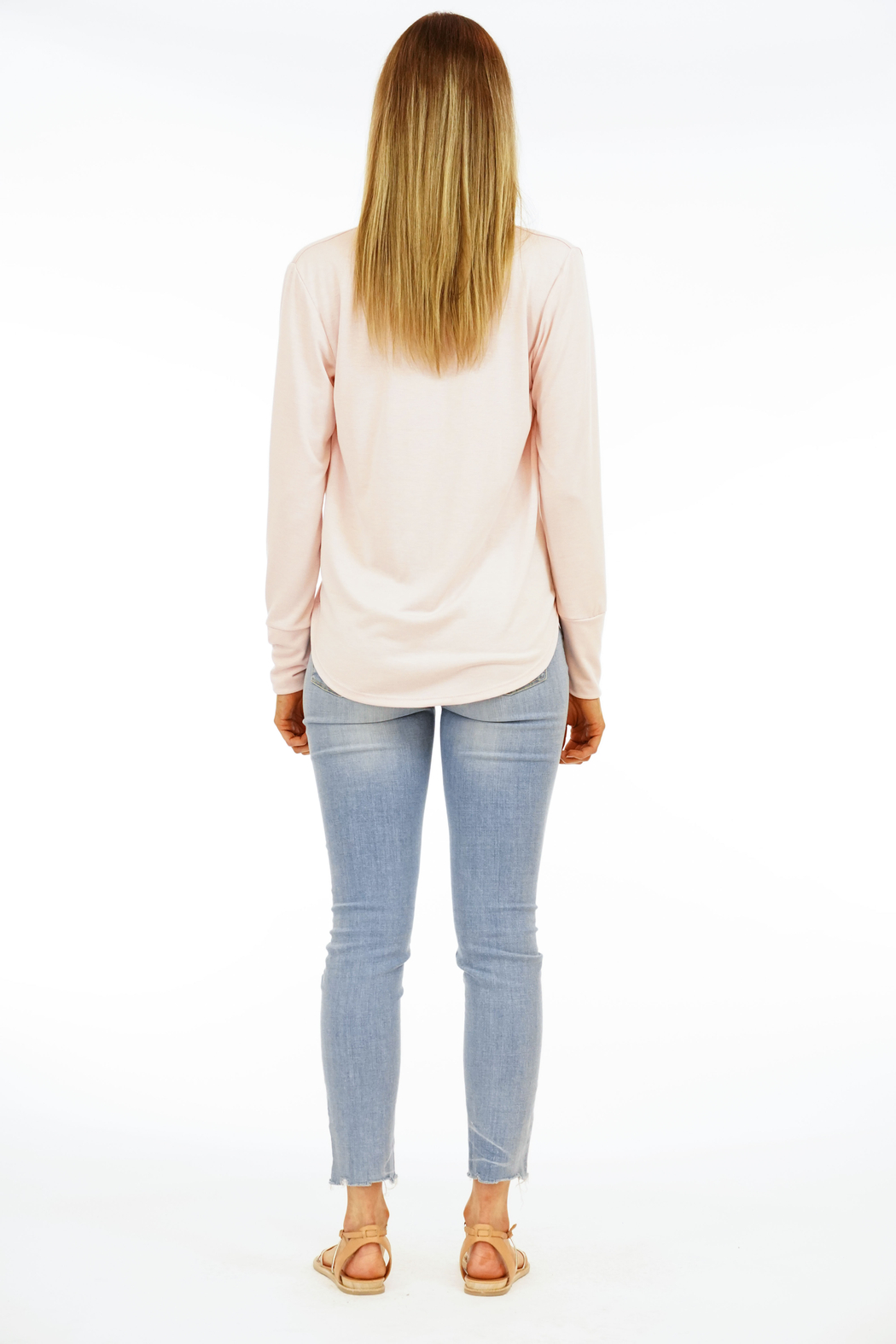 Veronica M Surplice Long Sleeve Top - Back Cropped Image