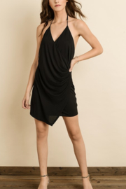 dress forum Surplice Slinky Halter Dress - Product Mini Image