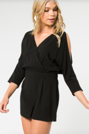 Everly Surplice Split Sleeve Romper - Product Mini Image