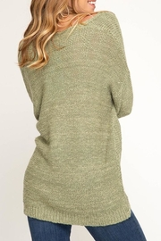 She + Sky Surplice Sweater - Side cropped