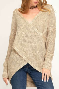 Shoptiques Product: Surplice Sweater Top