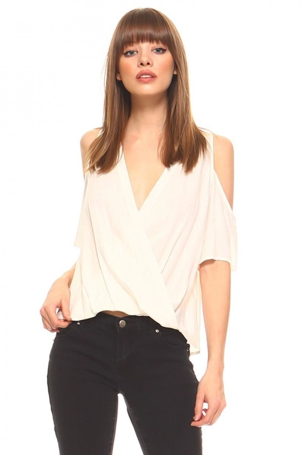 TCEC Surplice V-Neck Top - Front Cropped Image