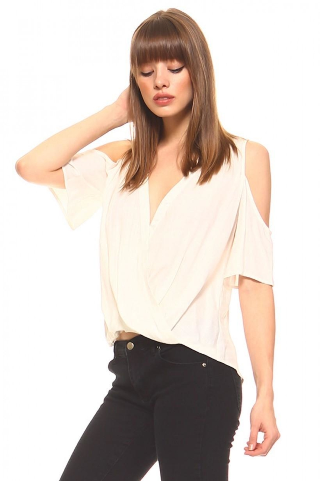 TCEC Surplice V-Neck Top - Front Full Image