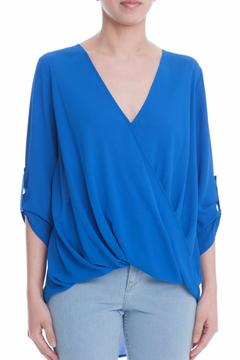 Simply Chic Surplice Woven Blouse - Product List Image