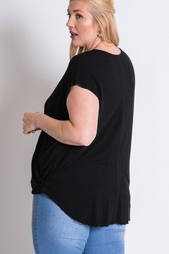 Davi & Dani Surplice Wrap Plus Size Top - Alternate List Image