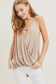 Doe & Rae Surplice Wrap Tank Top - Front cropped