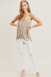 Doe & Rae Surplice Wrap Tank Top - Front full body