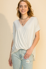 Double Zero Surplice Wrap Tee - Product Mini Image