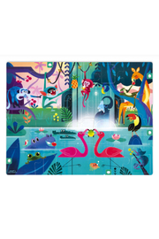 Janod Surprise Puzzle Feast In The Jungle 20 Piece Puzzle - Front full body