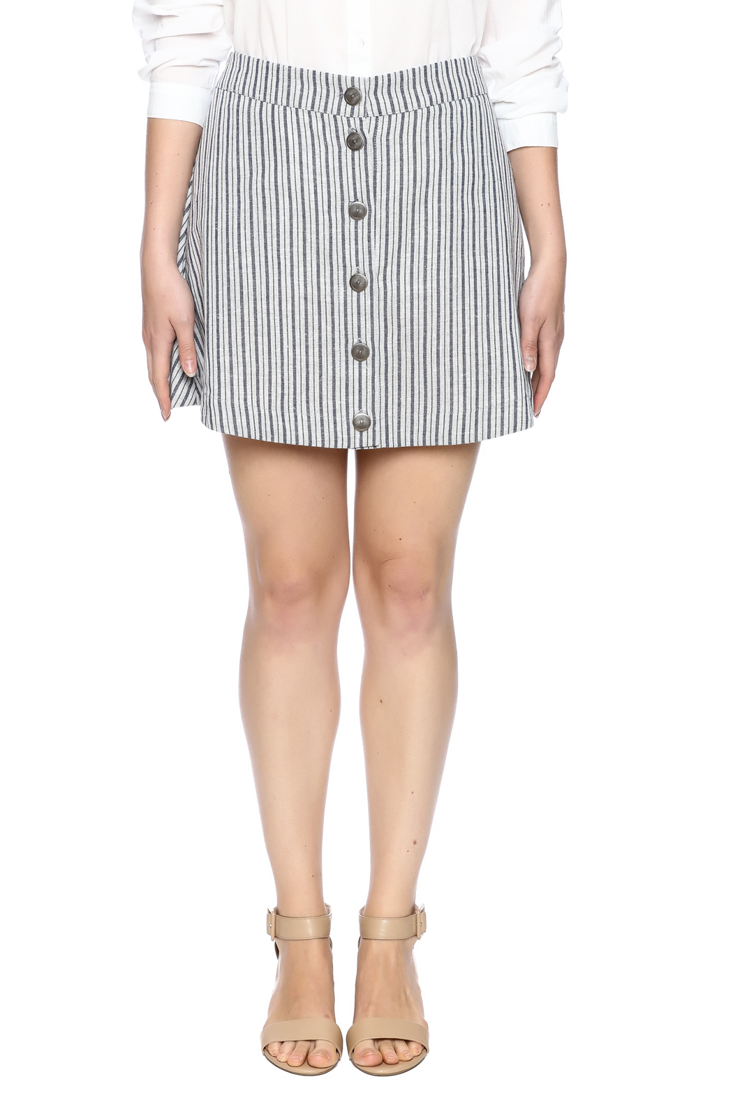 Surreal by Papercrane Striped Denim Skirt from North Carolina by ...