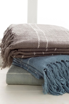 Surya Woven Striped Throw - Alternate List Image