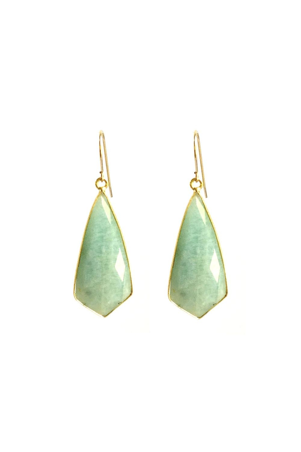 Susan Goodwin Jewelry Amazonite Earrings - Front Cropped Image