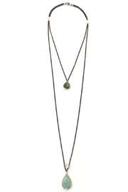 Susan Goodwin Jewelry Amazonite & Labradorite Necklace - Front cropped