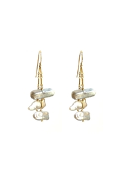 Susan Goodwin Jewelry Baroque Pearl Earrings - Front cropped