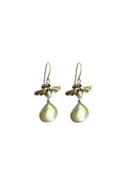 Susan Goodwin Jewelry Bee Labradorite Earrings - Front full body