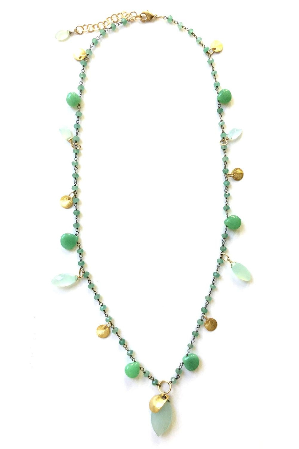Susan Goodwin Jewelry Chalcedony & Chrysaprase Necklace - Main Image
