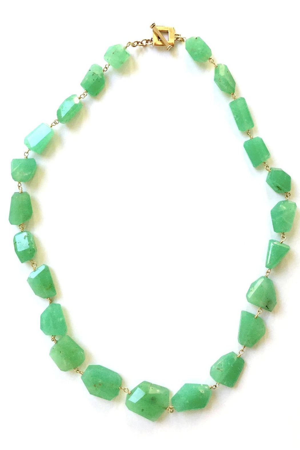 faceted necklaces courtney ii shop opal choker single necklace chrysoprase strand toggle inlay