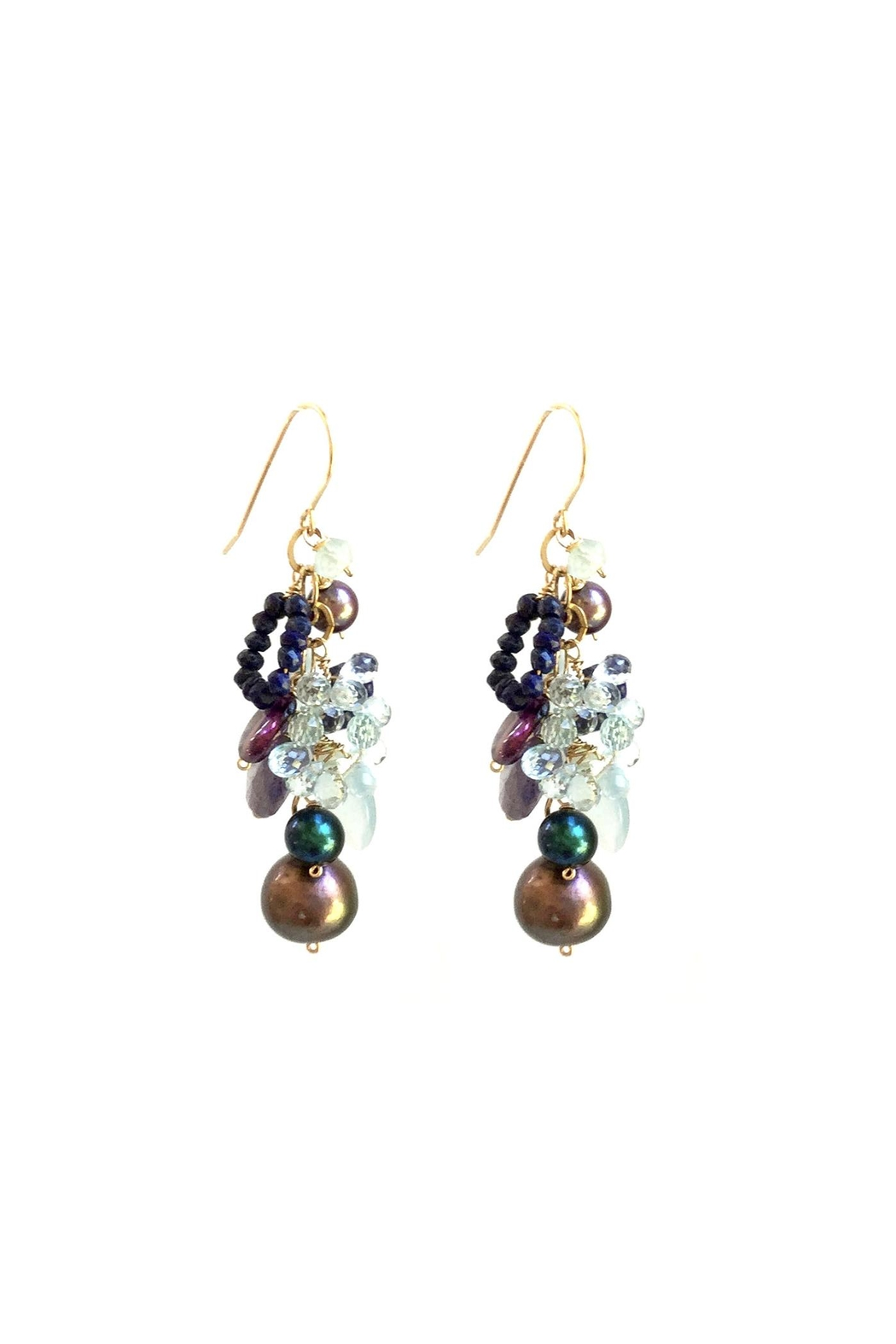 Susan Goodwin Jewelry Gemstone And Pearl Earrings - Main Image