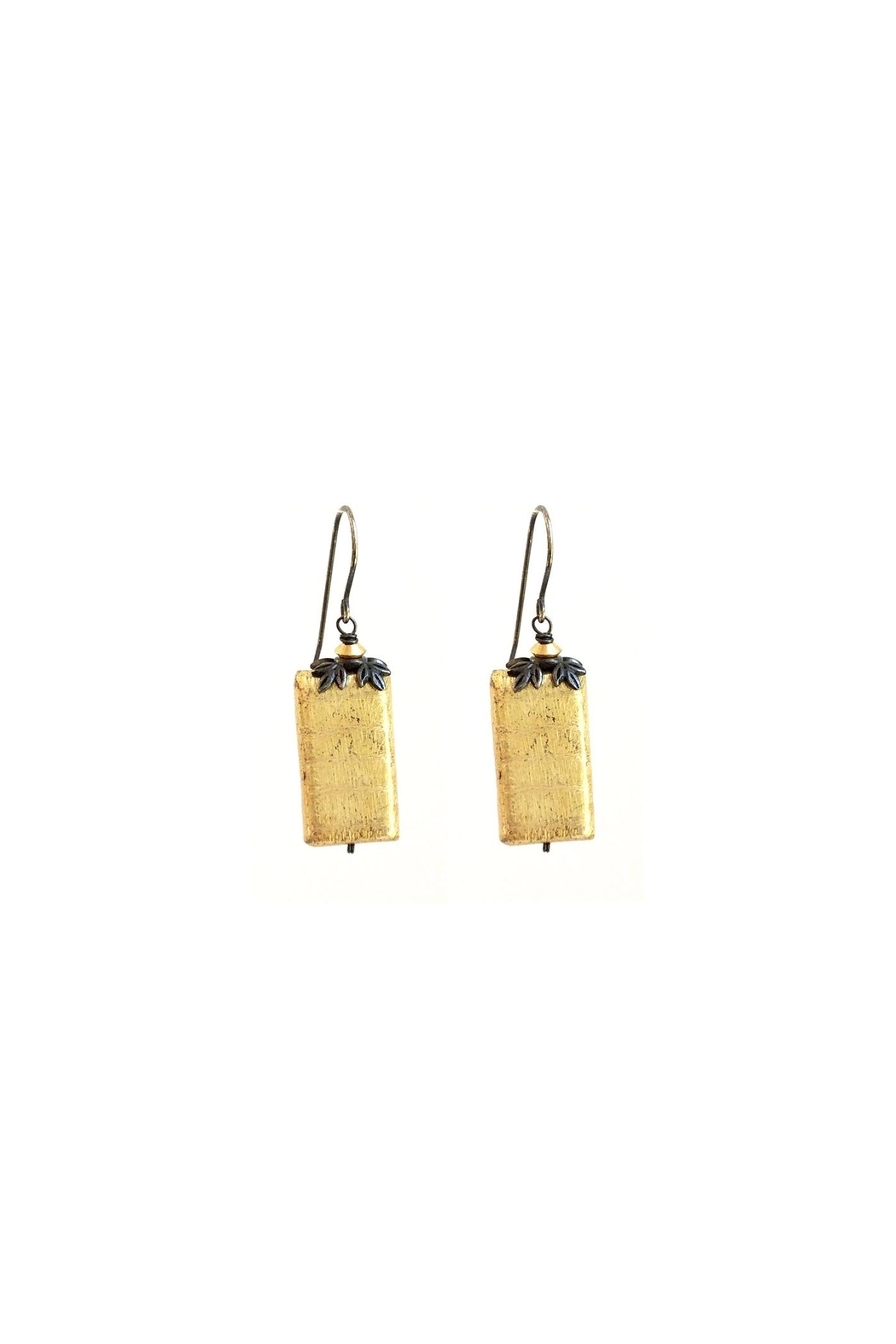Susan Goodwin Jewelry Gold Rectangle Earrings - Main Image