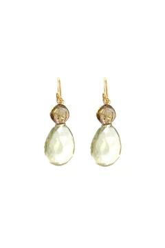 Susan Goodwin Jewelry Green Amethyst Earrings - Product List Image