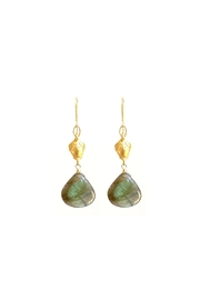 Susan Goodwin Jewelry Labradorite Shield Earrings - Product Mini Image