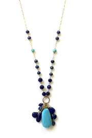 Susan Goodwin Jewelry Lapis & Turquoise Necklace - Front full body