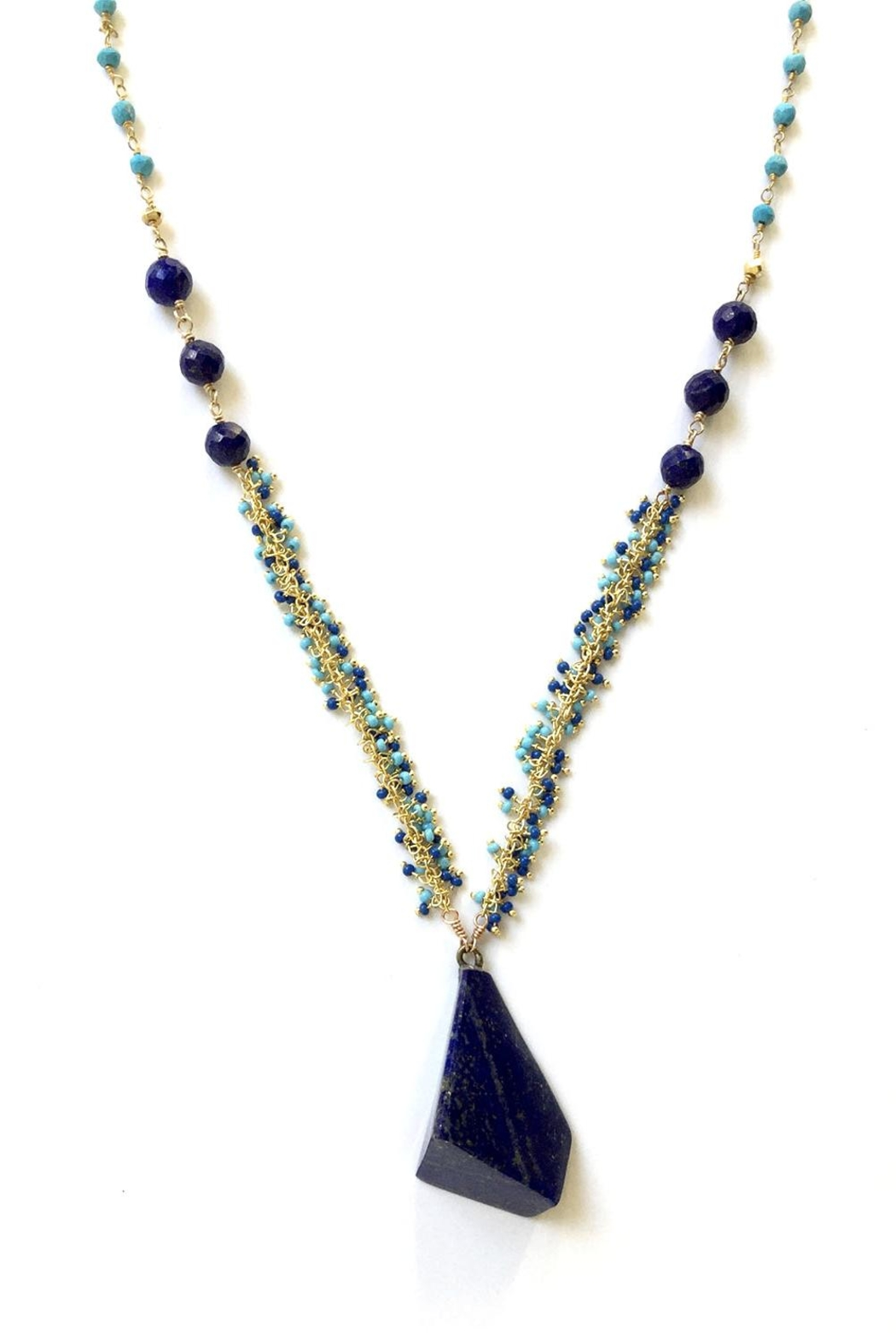 Susan Goodwin Jewelry Lapis & Turquoise Necklace - Front Full Image