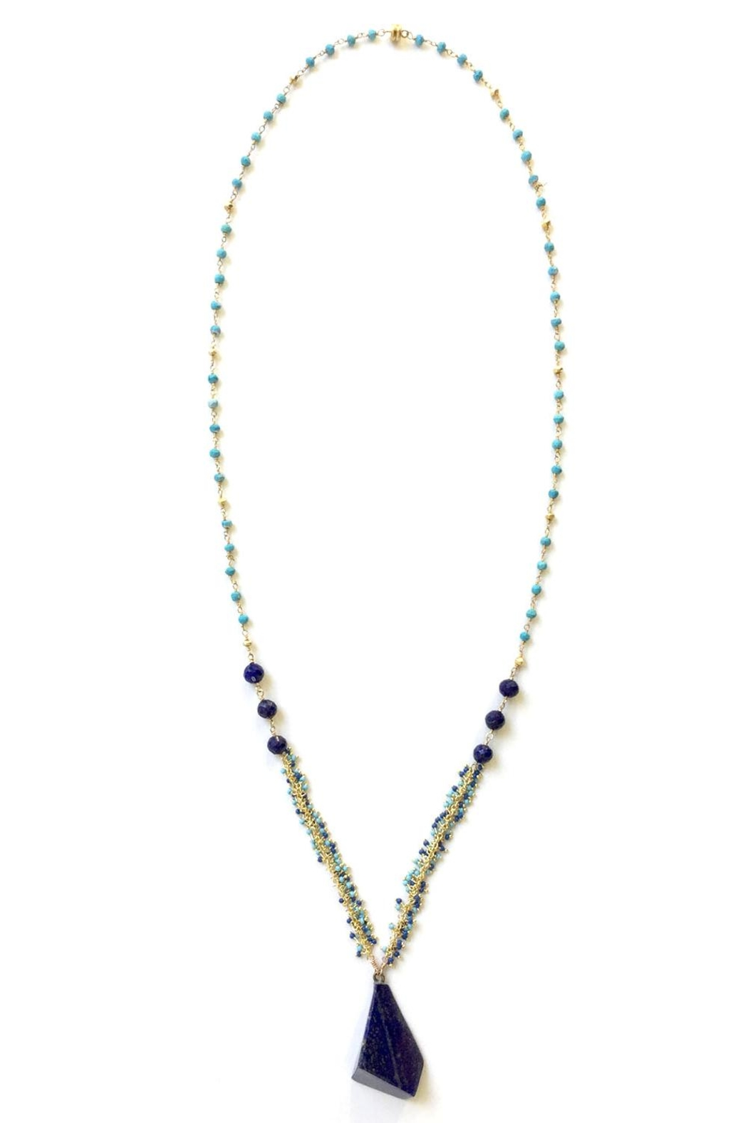 Susan Goodwin Jewelry Lapis & Turquoise Necklace - Main Image