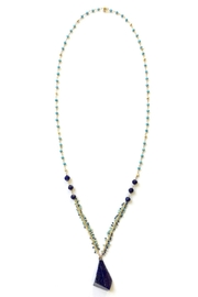 Susan Goodwin Jewelry Lapis & Turquoise Necklace - Front cropped