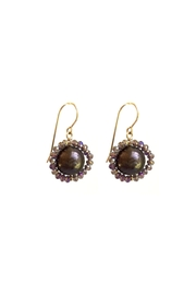 Susan Goodwin Jewelry Purple Pearl Earrings - Product Mini Image