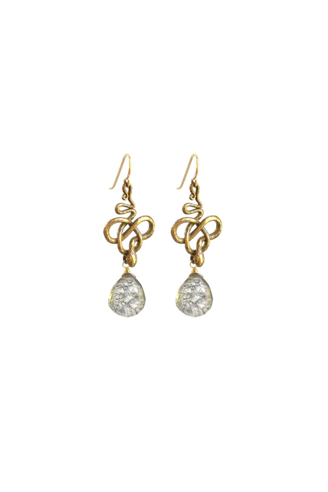 Susan Goodwin Jewelry Quartz Snake Earrings - Main Image