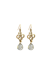 Susan Goodwin Jewelry Quartz Snake Earrings - Front full body