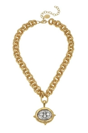 Susan Shaw Bee Coin Necklace - Product Mini Image