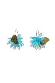 Vachon Designs Blooming Blue Statement Earrings - Front full body