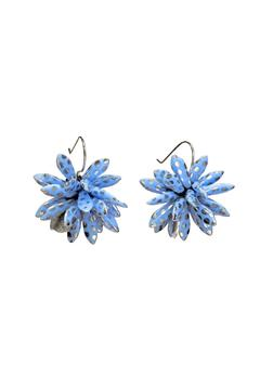 Susan Vachon Blue Dotted Bloom Earrings - Alternate List Image