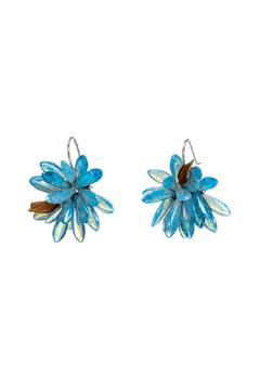 Susan Vachon Picasso Blue Bloom Earrings - Alternate List Image