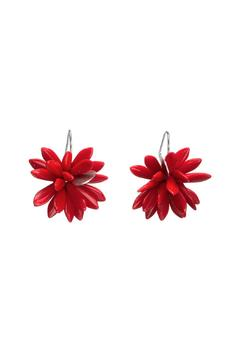 Susan Vachon Red Hot Bloom Earrings - Alternate List Image