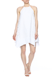Susana Monaco Eyelet Halter Dress - Front full body
