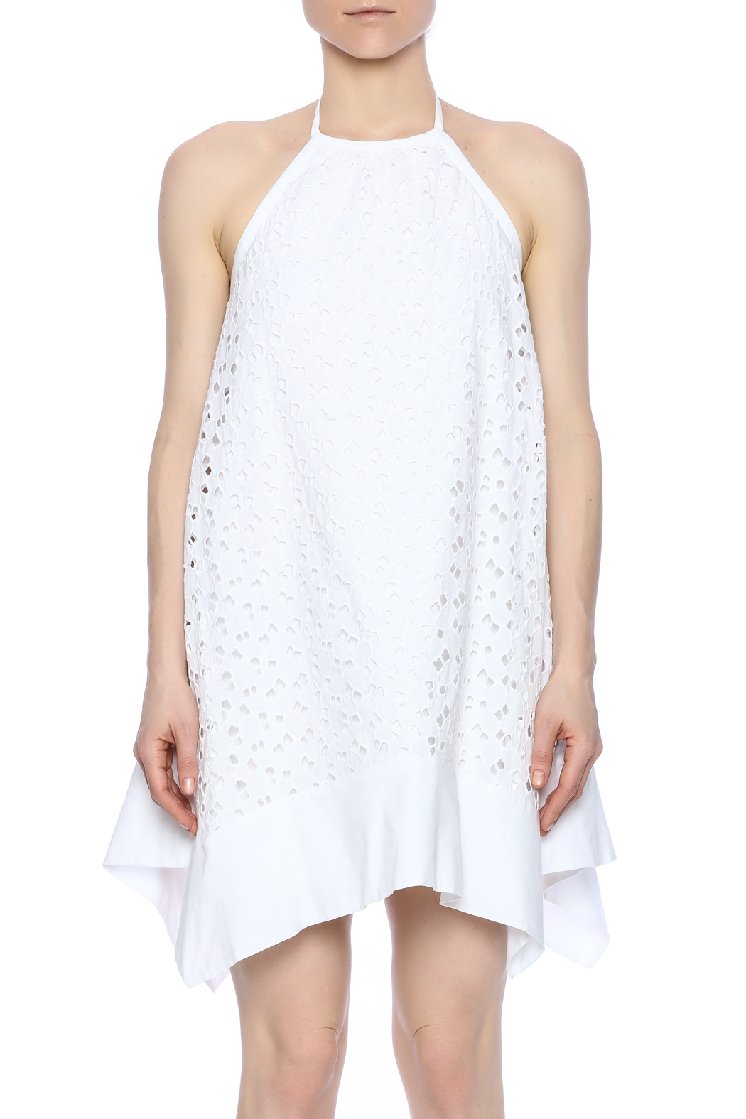Susana Monaco Eyelet Halter Dress - Side Cropped Image