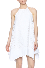 Susana Monaco Eyelet Halter Dress - Front cropped