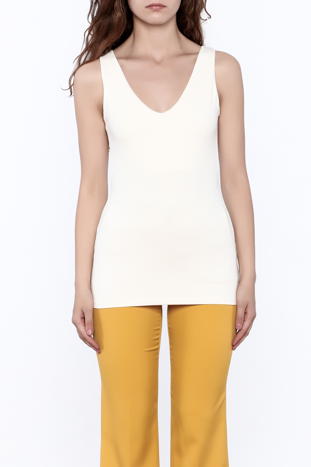 Susana Monaco Hanne Sleeveless Tank Top - Side Cropped Image
