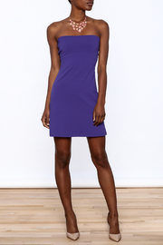 Susana Monaco Purple Strapless Dress - Front full body