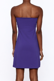 Susana Monaco Purple Strapless Dress - Back cropped