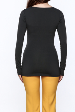Susana Monaco Zip Gather Long Sleeve Top - Alternate List Image